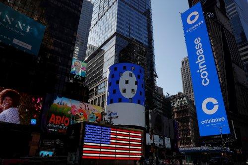 Coinbase jumps 11% day after Nasdaq debut