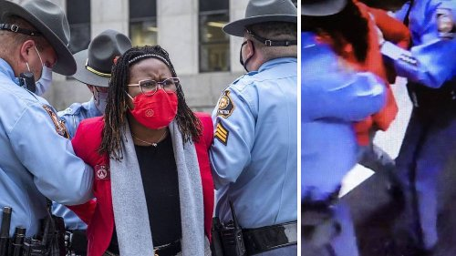 GSP releases report detailing lawmaker's arrest; protesters call it 'all lies'