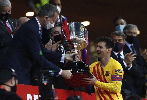 Messi nets 2, Barcelona beats Bilbao 4-0 to win Copa del Rey