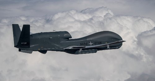 NATO surveillance drones dial up flying hours, maritime sensing