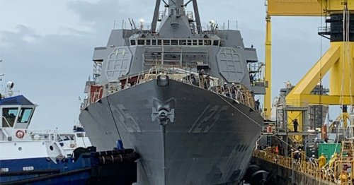 Keeping USS Jack H. Lucas on track: Integration of SPY-6 radar array is underway on Navy's new guided destroyer