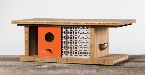 Sí, estas casitas de diseño para pájaros habrían encandilado a Frank Lloyd Wright
