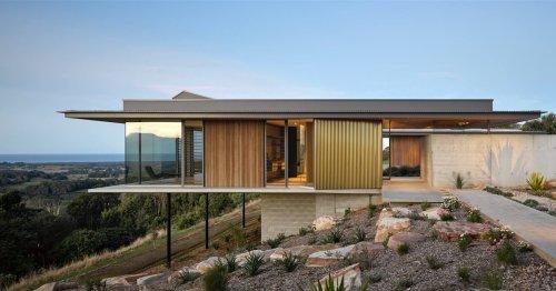 Una espectacular casa en voladizo asomada al océano en Australia