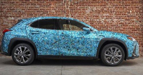 El UX 250 Lexus sirve como lienzo tridimensional para el arte