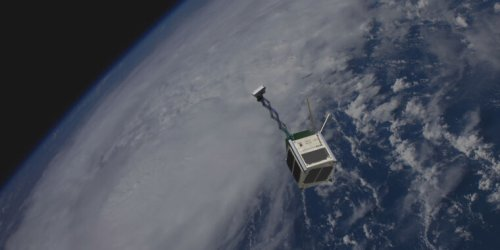 New wooden satellite is part advertising, part student project