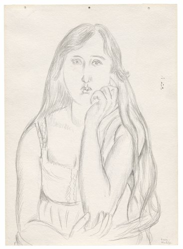 Young Girl with Long Hair (recto); Girl Reading (verso) | The Art Institute of Chicago