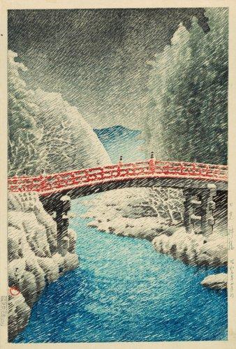 Snow at the Shin Bridge, Nikko (Nikko Shinkyo no yuki) | The Art Institute of Chicago