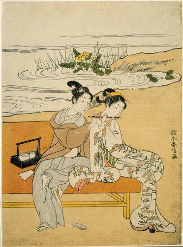Lovers Playing the Same Fute (parody of Xuanzong and Yang Guifei)   The Art Institute of Chicago