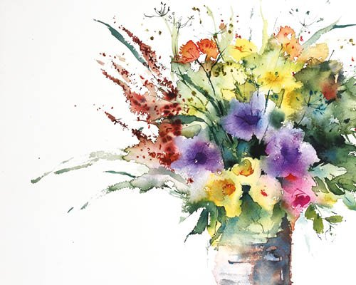 How to Make Bolder Brushstrokes in a Floral Watercolour: Part 1