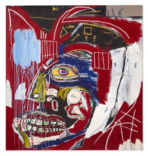 A Prized Basquiat Skull Painting Fetched $93.1 Million at Christie's, the Second-Highest Price Ever Paid for a Work by the Artist at Auction