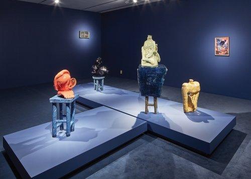 Am I Blue?: Woody De Othello's Ceramic Sculptures Give Funk Art a Musical Twist