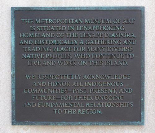 Met Museum Installs Land Acknowledgement Plaque on Facade