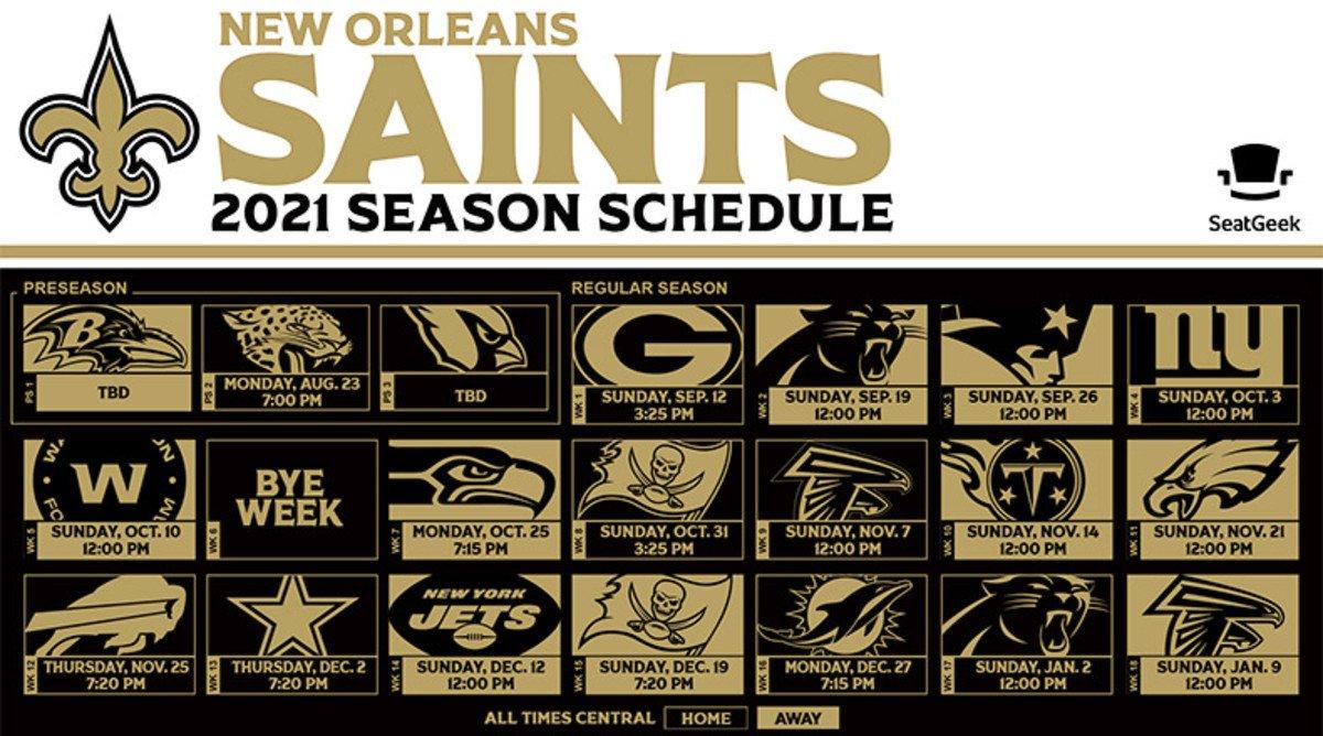 New Orleans Saints Schedule 2021