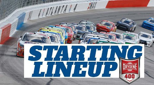 NASCAR Starting Lineup for Sunday's Drydene 400 at Dover International Speedway