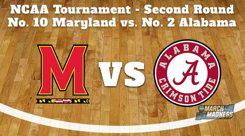 Maryland Terrapins vs. Alabama Crimson Tide Prediction: NCAA Tournament Second Round Preview