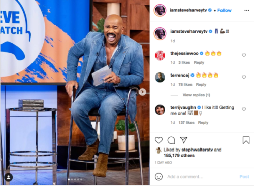 'These Fits Getting Outlandish': Fans React to Steve Harvey's Latest Attire