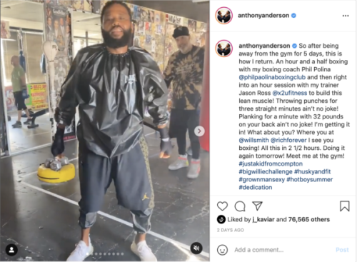 'Somebody Get a Mop': Anthony Anderson Shocks Fans with Results of Working Out, Weight-Loss Progress