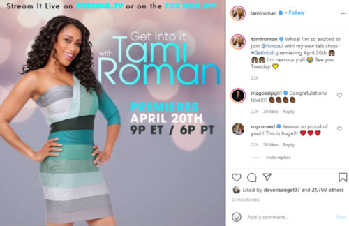'This is Huge': Tami Roman Gets Her Own Show After Walking Away from 'Basketball Wives'