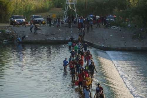 Thousands of Haitian Migrants Massed In Camp Under Bridge at U.S.-Mexico Border Without Running Water and Sleeping In Dirt; Deportation Back to Haiti Looms Next