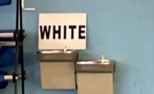 'Miss Me With That One': Community Questions 'White' Sign Placed on High School Drinking Fountain After Principal Claims It Was 'Not Intentional'
