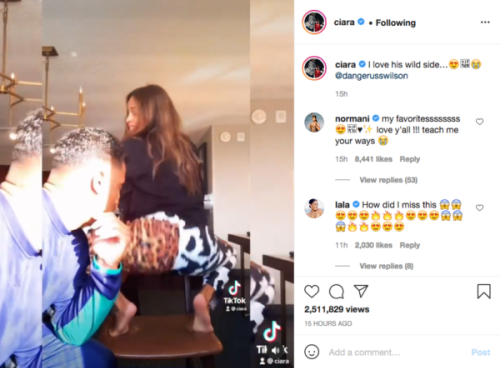 'This Why She Stay Pregnant': Ciara's Dance Video with Husband Russell Wilson Leaves Fans Shook