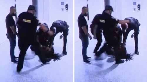 'It's Just Inexcusable': Five Hispanic Miami Beach Officers Charged as Video of Them Beating Two Black Men In Hotel Lobby — One Who Was Just Recording — Is Released