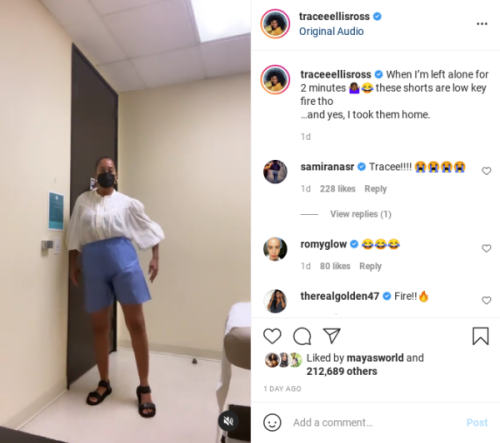 'An Epic Tracee Moment': Tracee Ellis Ross' Doctor's Visit Turned Into an Impromptu Fashion Show After the Actress Posted This