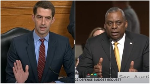 'Yes or No Will Do': Sen. Tom Cotton Complains About People Leaving the Military Over Diversity Training Yet Repeatedly Cuts Off Defense Secretary Lloyd Austin as He Attempts to Provide Context