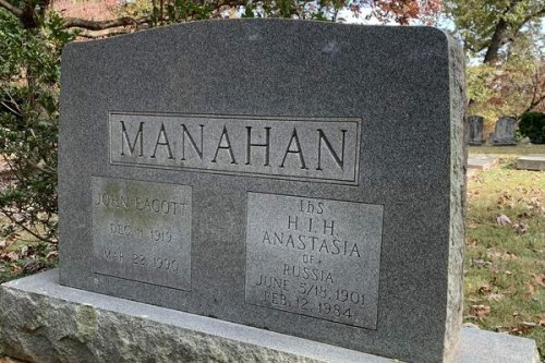 Headstone of Anna Anderson