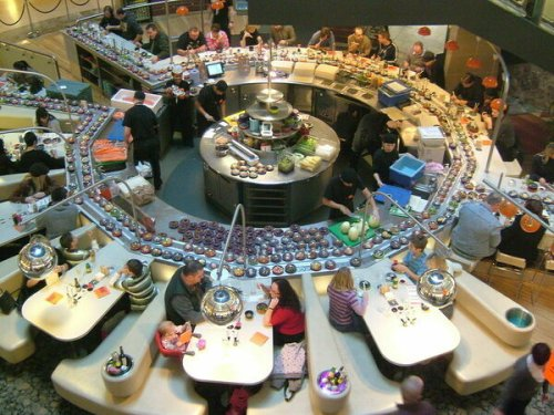 Sushi Carousels and the Future of Contact-Free Dining