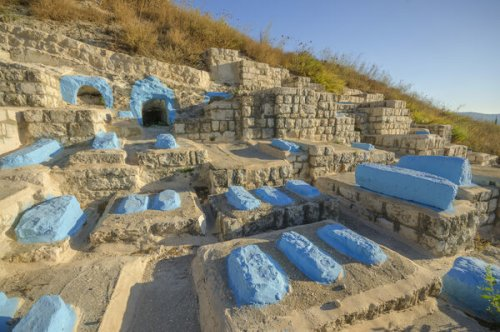 The Bright Blue Graves of Safed Cemetery