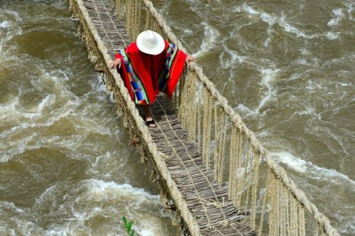 Peru's Incan Rope Bridges Are Hanging by a Thread