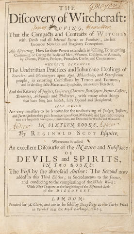 """""""The Discovery of Witchcraft"""" by Reginald Scot Headlines Manuscript Sale"""