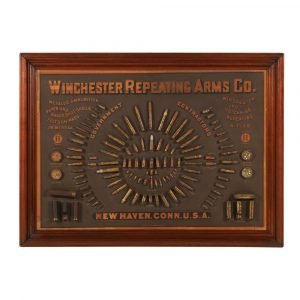 1884 Winchester Cartridge Display Board Rings Up $100,300 In Miller & Miller's Online-only Canadiana & Sporting Auction Held On June 5th