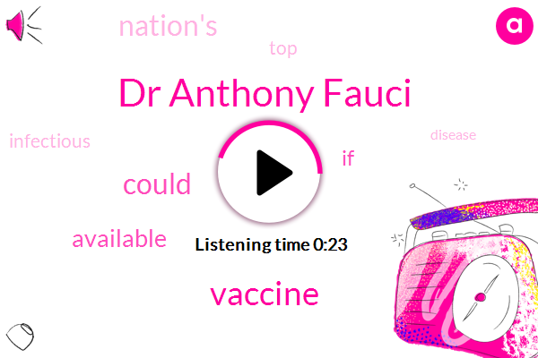 Listen: Fauci says vaccine trials could be stopped early with good results