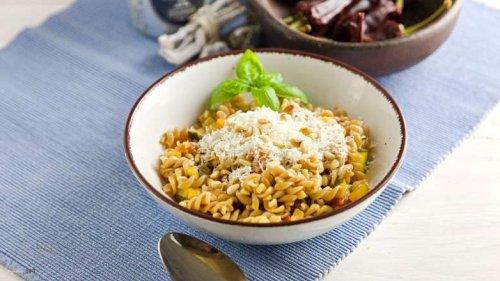 1 x Gemüse Pasta Arrabiata, einfach vegetarisch und scharf