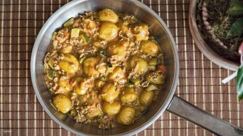 Gnocchi Pfanne mit Hackfleisch und Zucchini, 100% genial