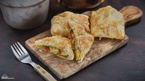 pikante Golatschen mit Huhn, die Blitz-Mahlzeit für jeden Tag geeignet!
