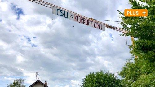 Aktivisten greifen mit Banner Nüßlein und CSU an: Was steckt dahinter?