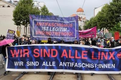 Habeck verurteilt Drohungen gegen Polizisten bei Demo in Sachsen