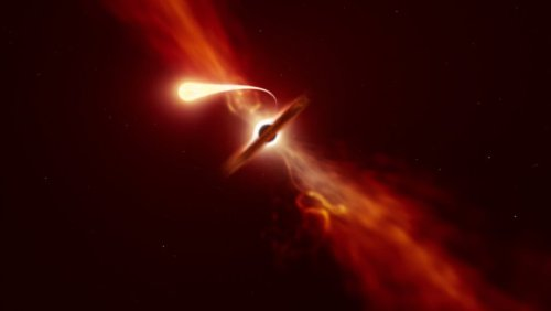 Death by spaghettification: Astronomers spot a star being ripped apart by a black hole