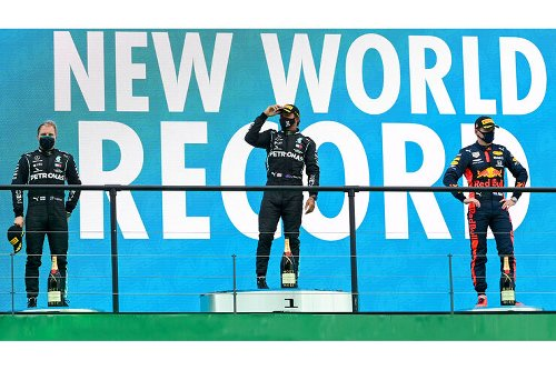 Crazy Stats GP Portugal 2021: Rekord-Trio auf dem Podium