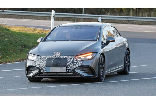 Erlkönig Mercedes-AMG EQE (2022): Elektro-E mit Extra-Power