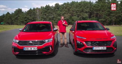 VÍDEO: Volkswagen T-Roc R vs Hyundai Kona N, ¿cuál es más rápido a una vuelta?
