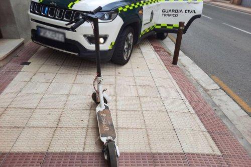 1.200 euros de multa por circular drogado en un patinete