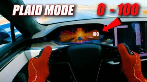 Vídeo: así es la increíble aceleración del Tesla Model S Plaid desde dentro