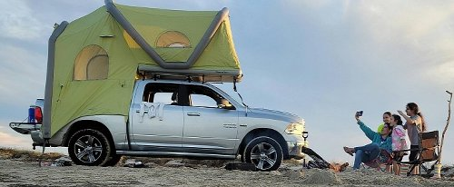 The GentleTent GT Pickup Is a Sturdy, Fully Inflatable Rooftop Tent for 3 Adults