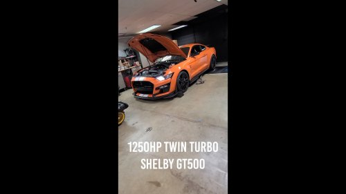 """Twin-Turbo Shelby GT500 """"Hellion"""" Lays Down 1,252 HP With Stock Engine Internals"""