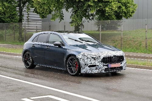 Facelifted Mercedes-AMG A 45 S 4Matic+ Caught Testing With Minimal Camouflage