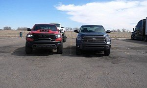 2021 Ram 1500 TRX Shames the 2021 Toyota Tundra in MPG Towing Test